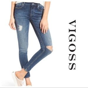 Vigoss Thompson Tomboy Distressed Skinny Jeans